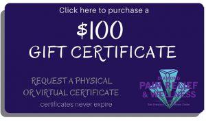 San Francisco massage DWC $100 Gift Card, Gift Certificates Image