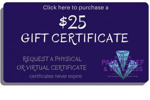 San Francisco massage DWC $25 Gift Card, Gift Certificates Image