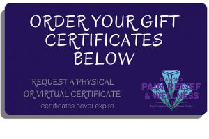 diamond pain relief wellness gift certificates